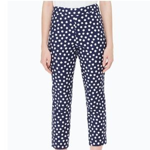 Kate Spade NY Pants Cloud Dot Cropped High Rise